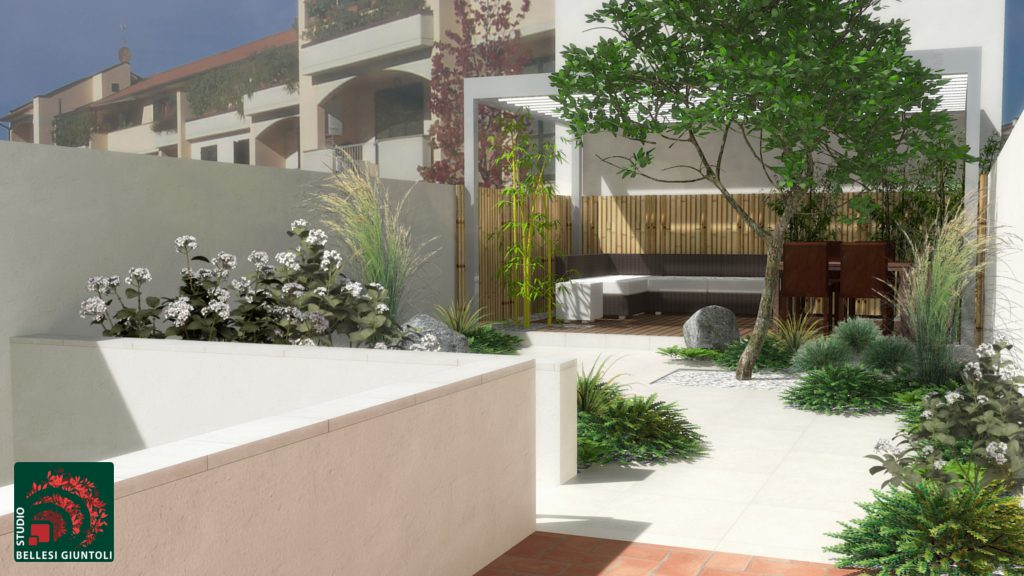 project render small gardens